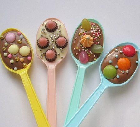 cucharas chocolate colores