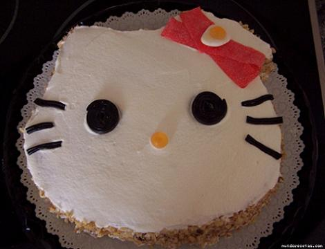 tartas infantiles cumpleaños de Hello Kitty