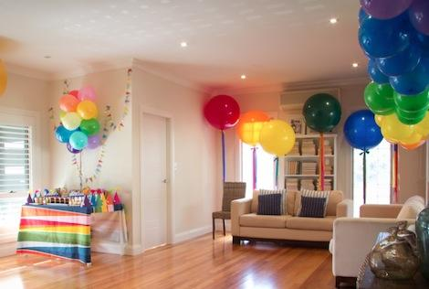 Decoracion con globos for Adornos casa