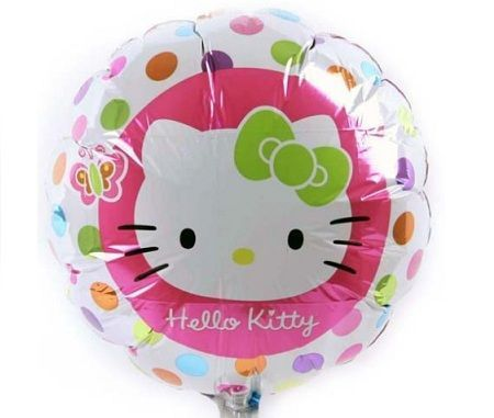 decoracion globos kitty