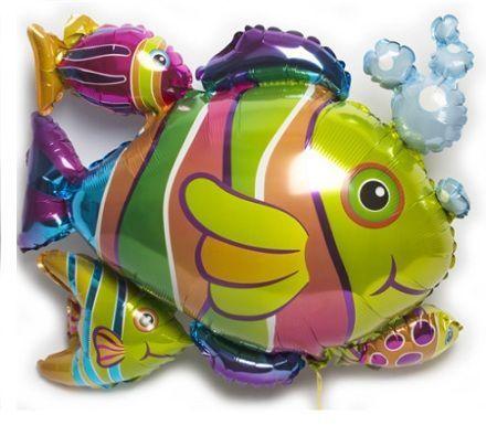 decoracion globos pez