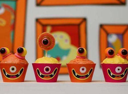 decoracion mesa cumpleanos monstruos helado