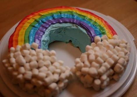 decoracion tarta infantiles arcoiris