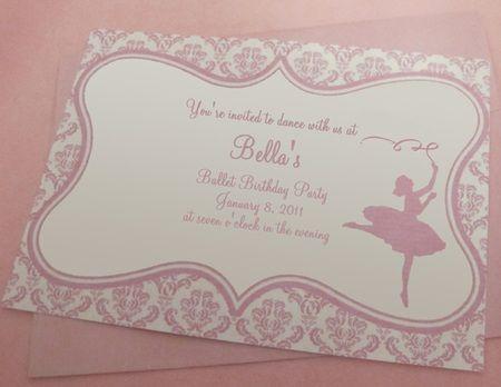 fiesta bailarina invitacion