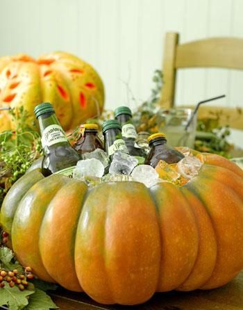 fiesta halloween calabazas bebida