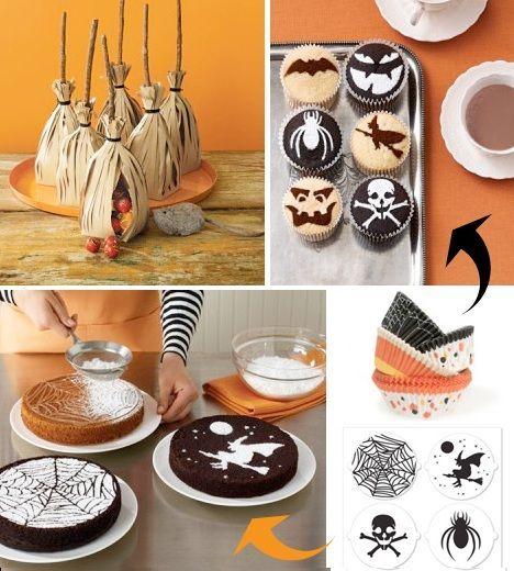por supuesto los dulces no pueden faltar en la mesa en halloween qu te parecen estas tartas con azcar glass fiesta halloween sandwiches