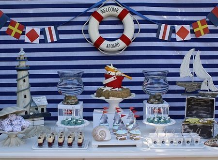 fiestas infantiles marineros mesa