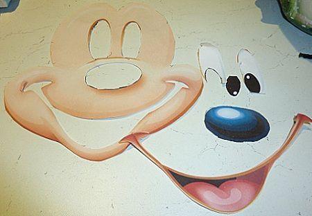 Como hacer caritas de Mickey Mouse - Imagui