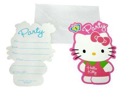 invitacion fiesta hello kitty