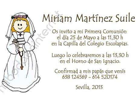 invitaciones comunion originales blanca