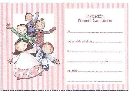 invitaciones comunion originales rayas
