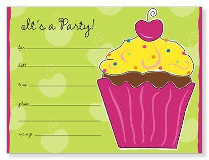invitaciones cumpleanos cake