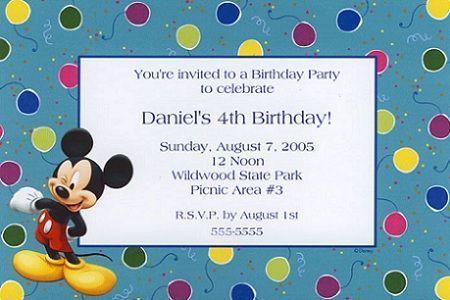 invitaciones cumpleanos mickey