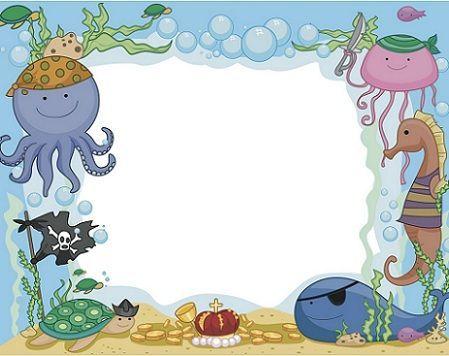 invitaciones cumpleanos oceano