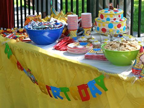 mesa umpleaños infantil