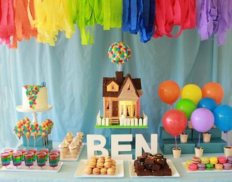 mesa cumpleaños infantil globos