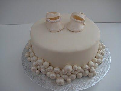 tartas bautizo perlas