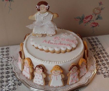 tartas comunion galletas