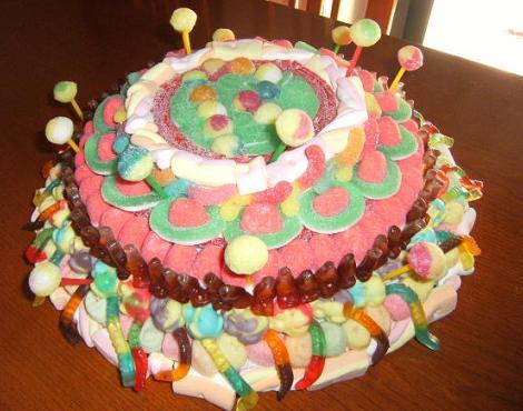 Tartas De Gominolas Fiestas Infantiles - Tartas-de-cumpleaos-sencillas-y-originales