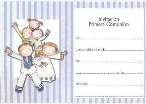5 invitaciones comunion originales rayas