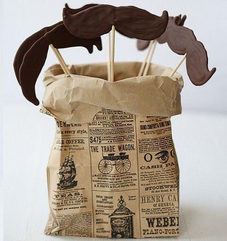 bigotes chocolate cumple bolsa