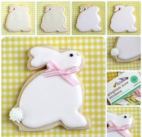 cookies pascua conejos paso a paso