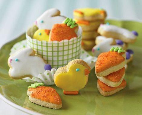 cookies pascua conejos zanahorias