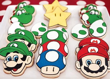 cumpleanos mario bros galletas decoradas