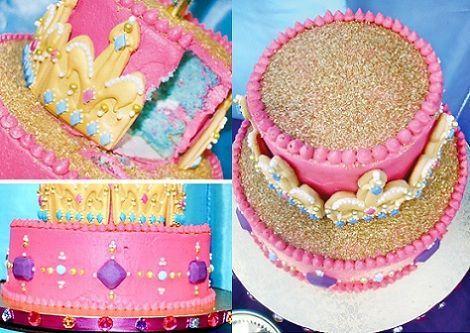 cumpleanos princesas jasmin tarta
