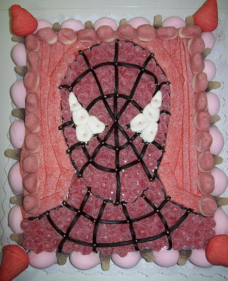 cumpleaños spiderman tarta