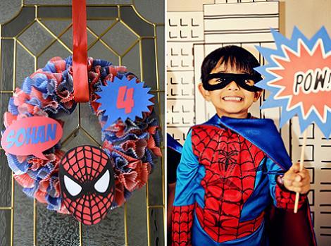 cumpleaños de spiderman