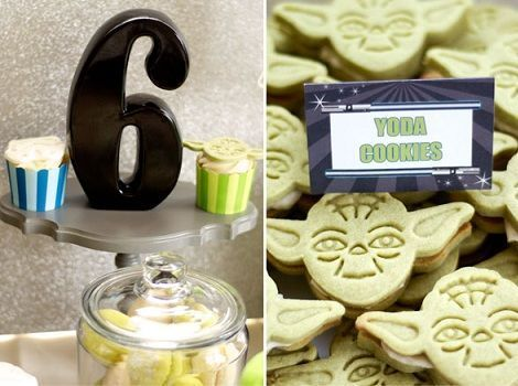 cumpleanos star wars cookies