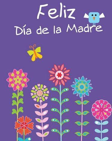 dia de la madre tarjeta lila