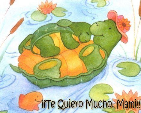 dia de la madre tarjeta tortugas