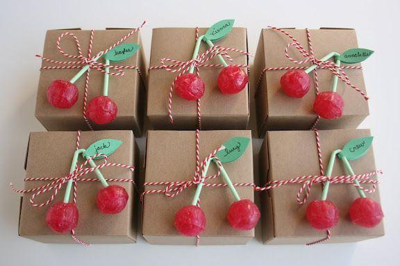 fiesta cumpleanos cerezas bolsas