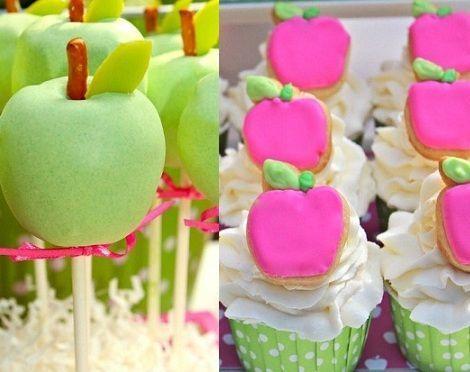 fiesta cumpleanos manzana cake pops