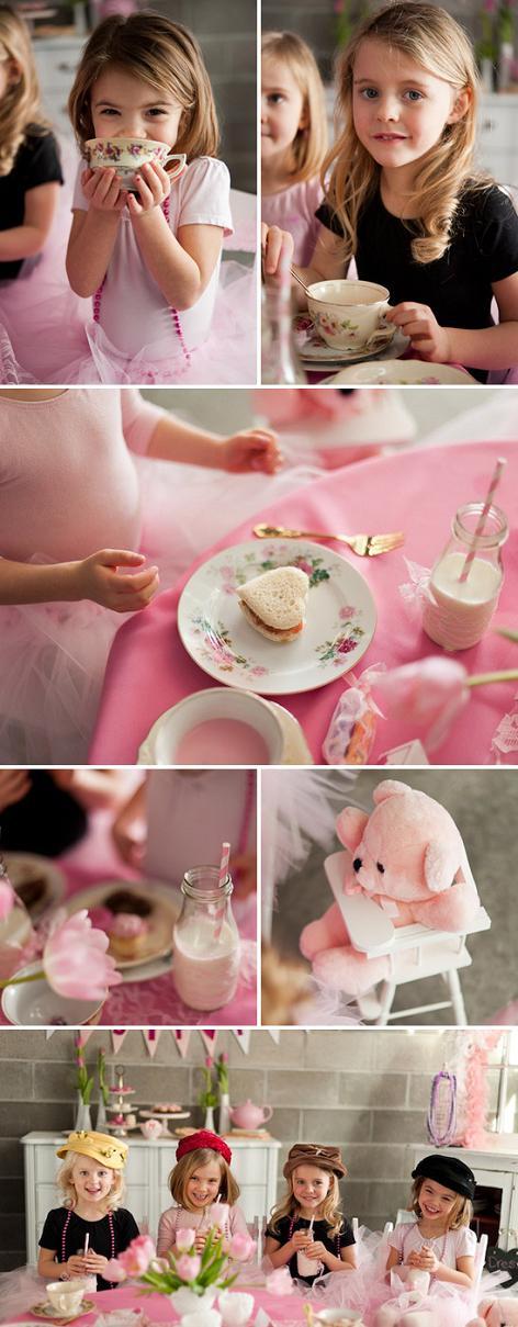 fiesta de té para niñas