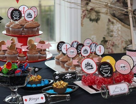 fiesta pirata tarta dulces