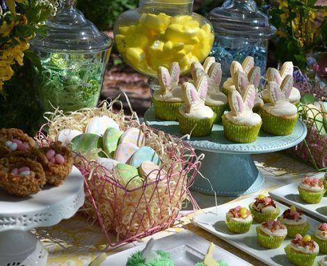 ideas mesa pascua dulces