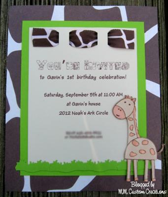 invitaciones caseras jirafa