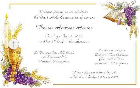 Invitación primera comunión para niña - Imagui