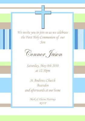 invitaciones comunion clasicas colores