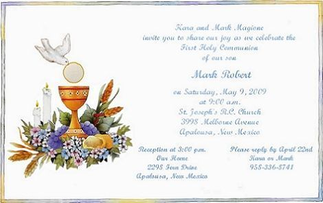 First Communion Photo Invitations for nice invitation example