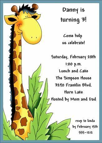 invitaciones cumpleanos jirafa