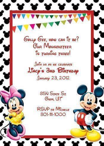 invitaciones cumpleanos mickey minie