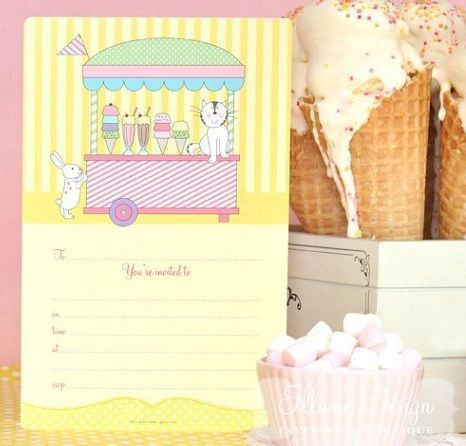 invitaciones cumpleanos originales helado
