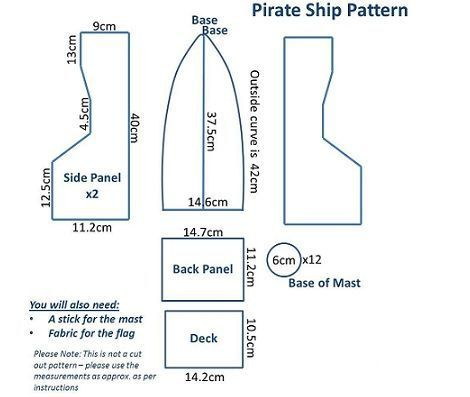 barco pirata plantilla