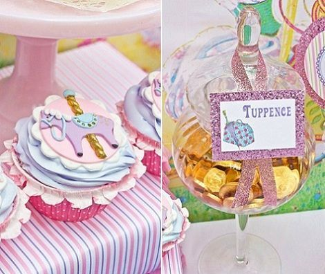 cumpleanos mary poppins cupcakes