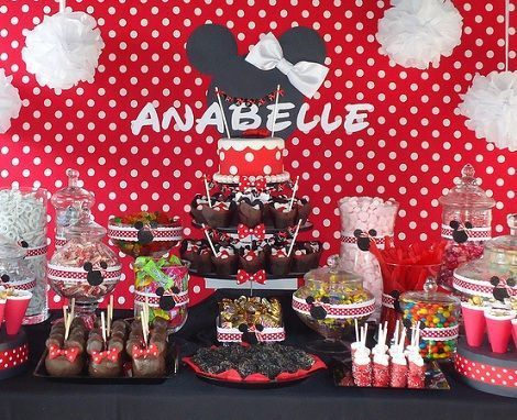 cumpleanos minnie mouse mesa
