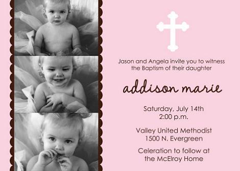 Invitación para imprimir de bautizo